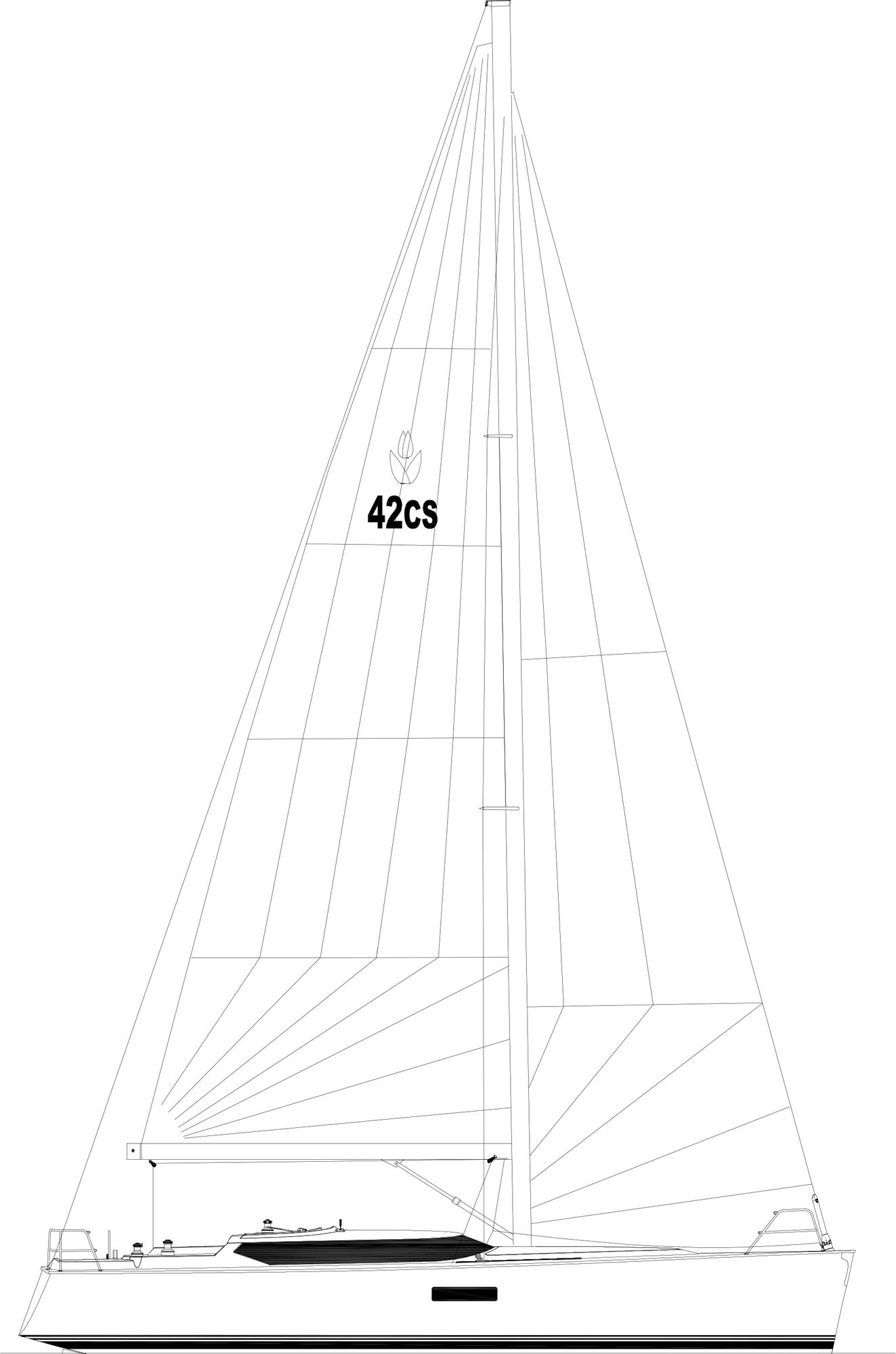 Conyplex Contest 42 CS - contest_42cs_sailplan_above_water.jpg